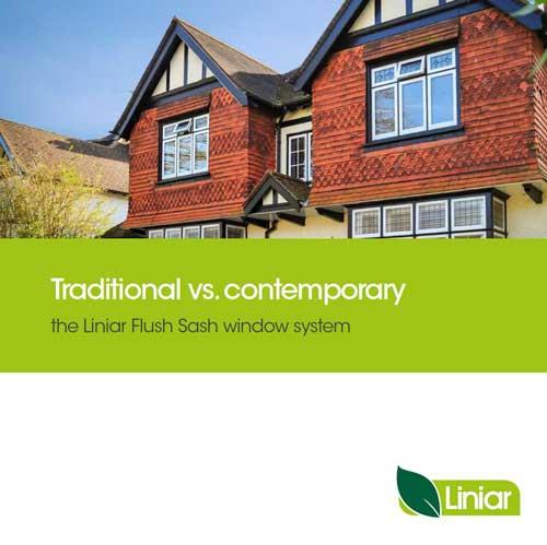 traditional vs contemporary the liniar flush sash window system