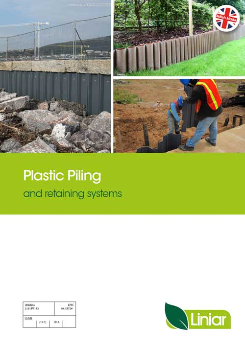 plastic piling and retaining systems