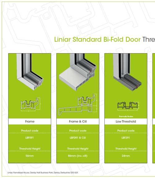 liniar standard bifold door threshold