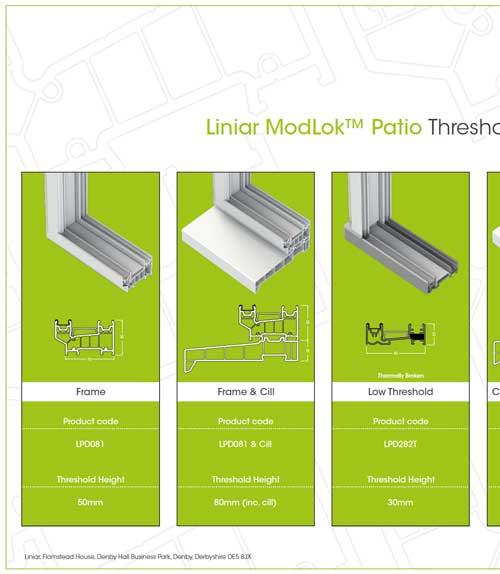 liniar modlok patio threshold