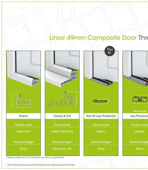 liniar 49mm composite door threshold