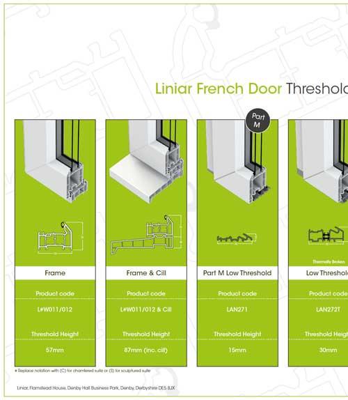 liniar french doors threshold