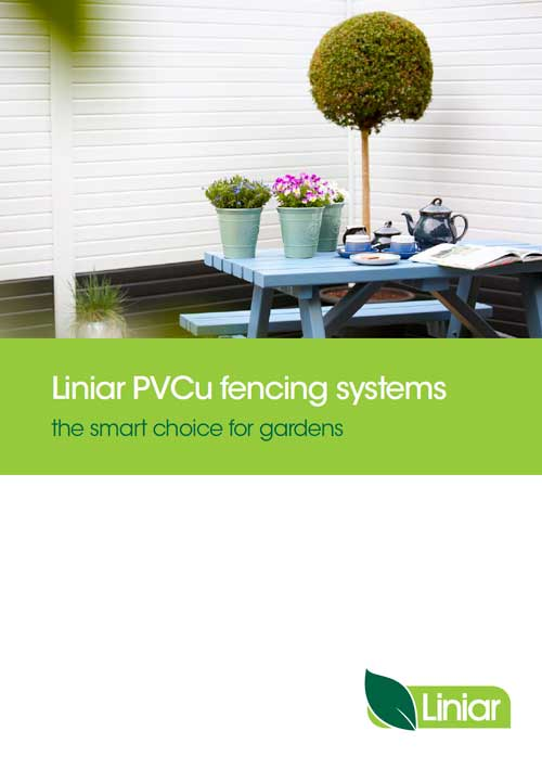 liniar PVCu fencing systems the smart choice for gardens