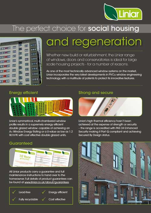 the perfect choice for social housing and regeneration#