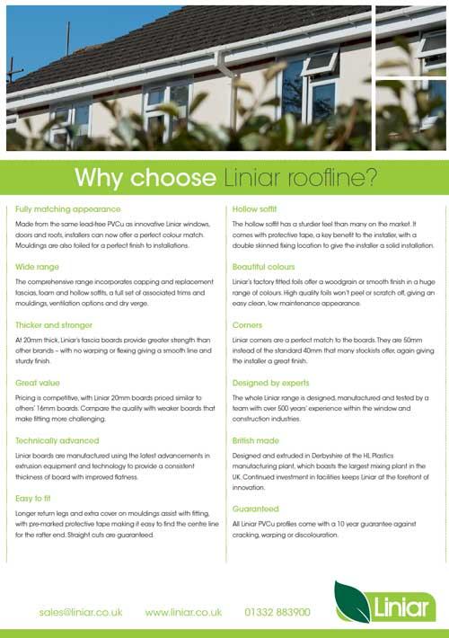 why choose liniar roofline