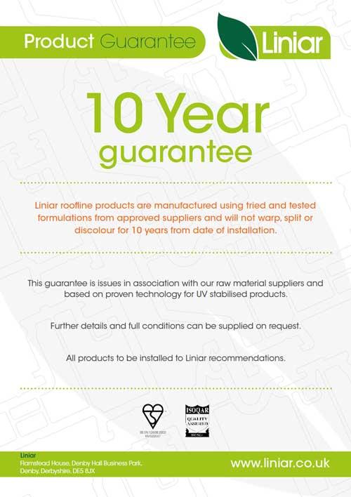 product guarantee liniar 10 year guarantee