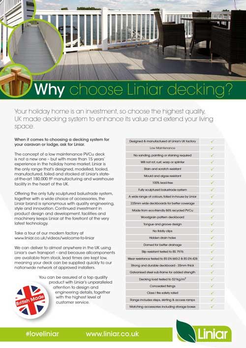 why choose liniar decking