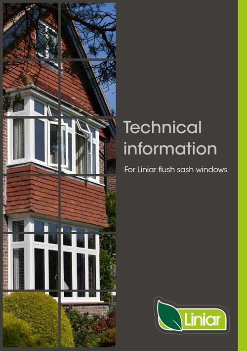 technical information for liniar flush sash windows