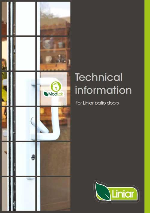 tehcnical information for liniar patio doors