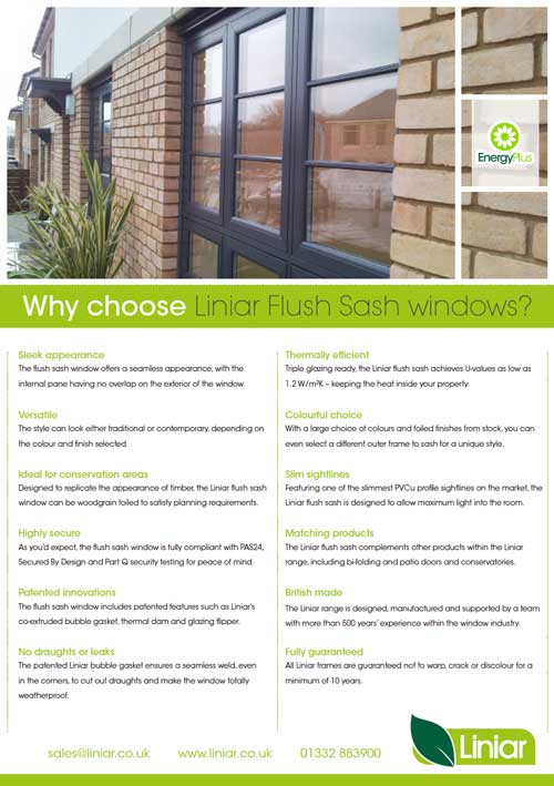 why choose liniar flush sash windows