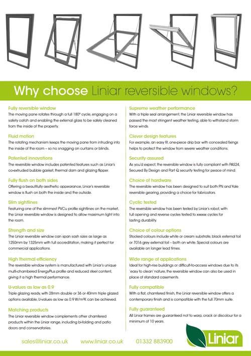 Why choose liniar reversible windows