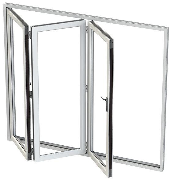 alumina white bifold doors